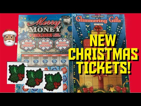 *BRAND NEW* 2019 Christmas Texas Lottery Scratchoffs 🎅🏽 Holiday Tickets