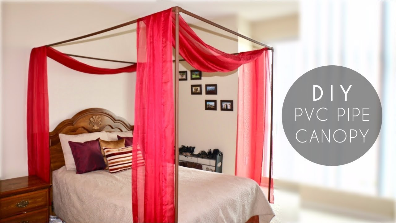 DIY PVC Pipe Bed Canopy & DIY PVC Pipe Bed Canopy - YouTube