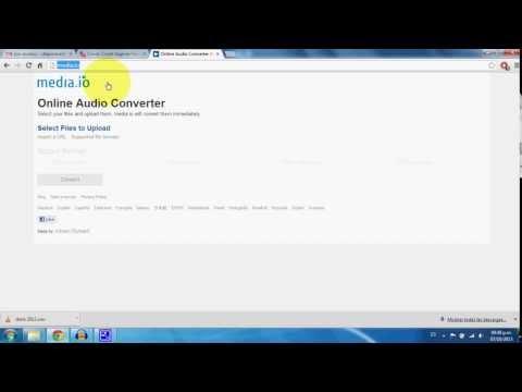 Convertir archivos de Audio online-media io