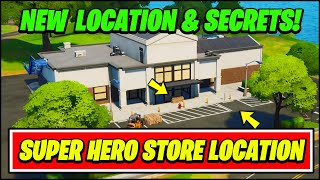 *NEW* Fortnite SUPERSTORE Gameplay, Secrets & Location (New Super Hero Store & Halloween Teaser)