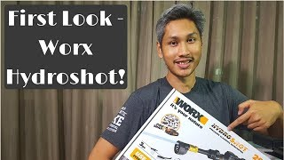 Portable pressure washer - First look at the Worx Hydroshot