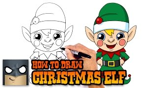 How to Draw Christmas Elf | Holiday Drawing Lesson