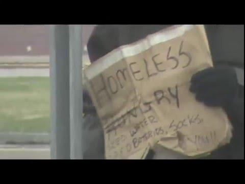 Homeless Woman, Telegraph Road, Near Former KMart, Detroit, Michigan, March 26, 2016