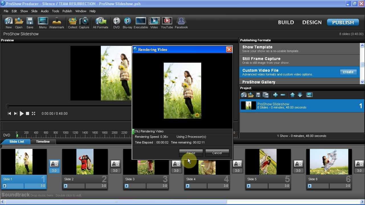 Hướng dẫn Proshow Producer – Xuất file video dạng MP4