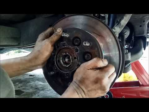 Isuzu dmax 4hj1 front wheel bearing replacement due to uneven tire wear and worn bearing