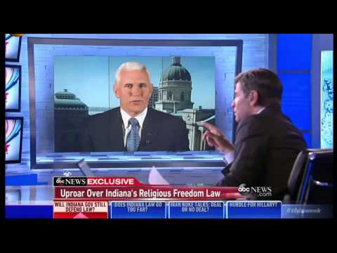 Stephanopoulos Grills Mike Pence over LGBT discrim