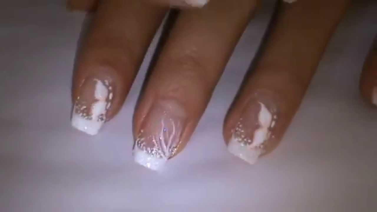 classic bridal inspired nail art