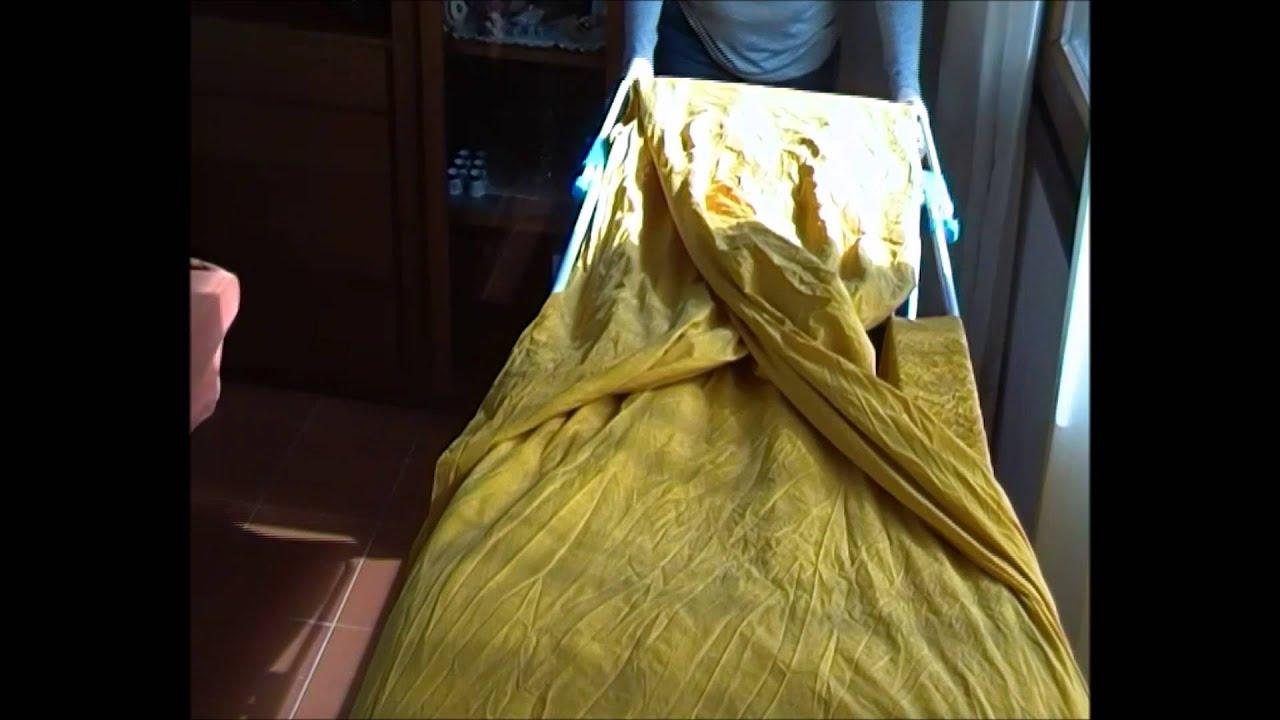 Come Stirare Le Lenzuola Matrimoniali.Stendere Le Lenzuola Per Non Stirarle Youtube