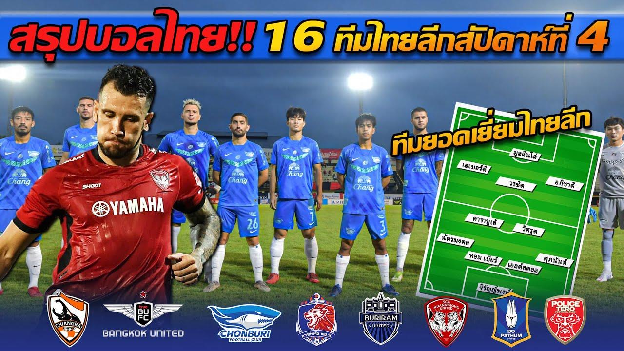 วิเคราะห์บอลไทยลีก!! ผ่านมา 4 นัดแล้ว ผลงานเป็นอย่างไรบ้างทีมไทย!! -  แตงโมลง ปิยะพงษ์ยิง - YouTube