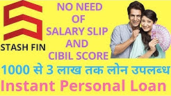 Instant Personal Loan without Salary Slip and Low Cibil Score