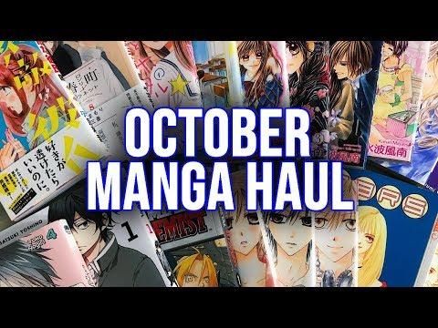 October 2017 Manga Haul! ft Japanese & English volumes