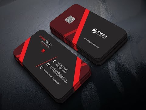 business card design in photoshop cc tutorial thumbnail