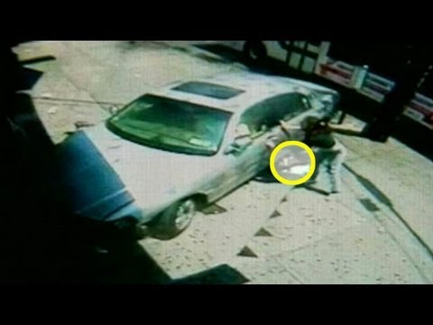 Caught on Tape: Teen Mom Saves Baby After Sidewalk Crash Close Call