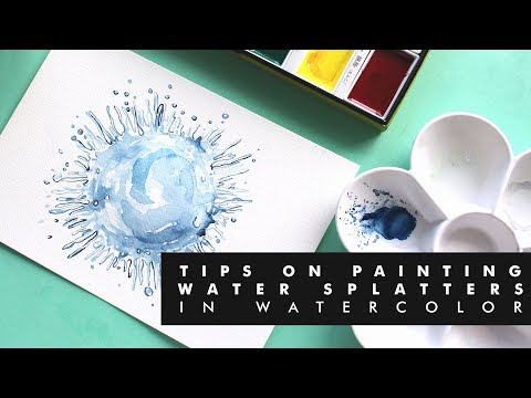 TIPS ON PAINTING WATER SPLATTERS | KURETAKE WATERCOLORS