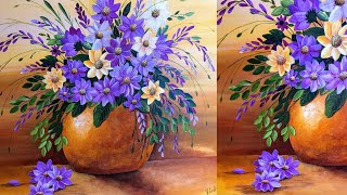 How to PAINT FLOWERS Tutorial / The Best Tricks