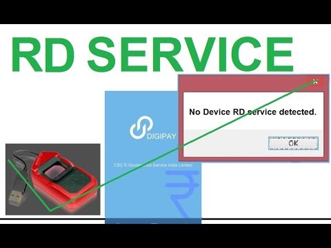 No Device RD Service detected. problem solution