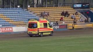 Wypadek Huberta Czerniawskiego w 18 biegu rundy MDMP na żużlu 2016 w Gorzowie