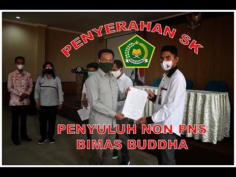 Penyerahan SK Pnyuluh Agama Buddha Non PNS 2021 Kantor Kementerian agama Nusa Tenggara Barat