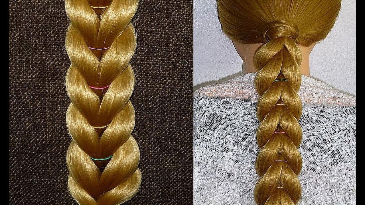 Everyday Braid Hairstyle With Elastics For Girls,kids For Medium&long Hair  Tutorialnteados  Youtube