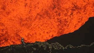 Man Dives into an Exploding Volcano..