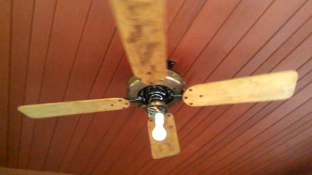 Lubricating Ceiling Fan : Antique diehl ceiling fan balancing and oiling youtube