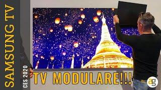 La TV MODULARE e le novità TV SAMSUNG CES2020