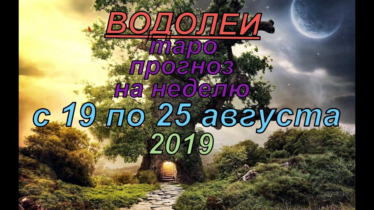 Гороскоп Водолеи с 19 по 25 августа.2019
