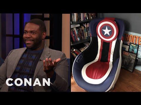 Sam Richardson Has A Captain America Massage Chair - CONAN on TBS