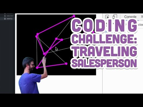 Coding Challenge #35.1: Traveling Salesperson