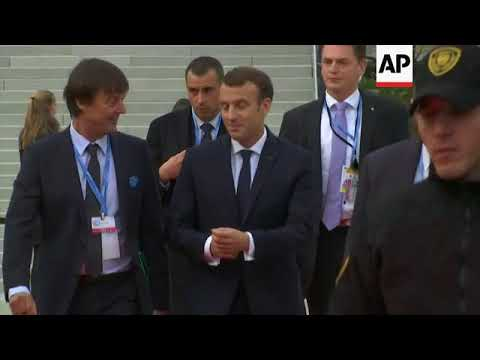 Macron arrives at Bonn climate talks