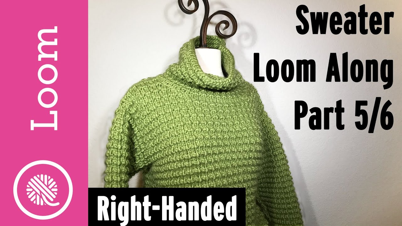Loom Knit Pullover Sweater Part 5 of 6