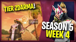 WHERE is the FOURTH FREE TIER FOR SEASON 5 (Week 4)-Fortnite Battle Royale CZ/SK | Lego007las