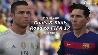Road to FIFA 17: Cristiano Ronaldo vs Leo Messi - Goals & Skills |FIFA REMAKE| 720p 60fps| Pirelli7
