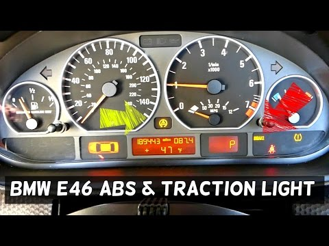 BMW E46 ABS TRACTION CONTROL LIGHT ON 316i 318i 320i 323i 325i 328i 330i  318d 320d 330d 330ci 325ci