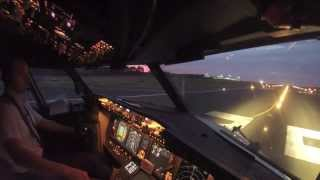 boeing 737 800 amazing take off hd cockpit view