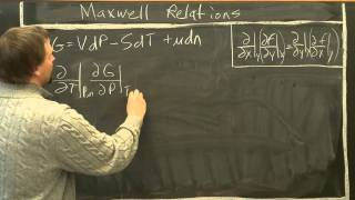 Maxwell relations from Gibb's free energy.