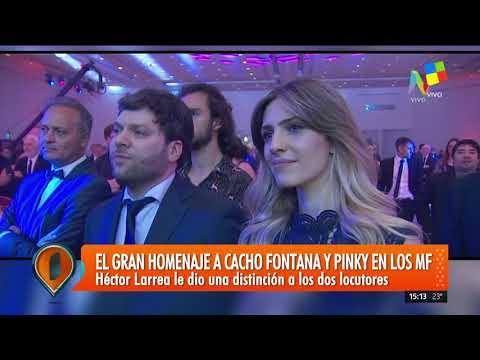 El emotivo homenaje a Cacho Fontana y Pinky en los Martín Fierro