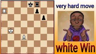 نقلة شطرنج خارج قدرات العقل البشري  الأبيض يلعب و يربح