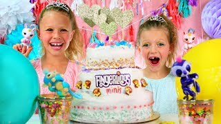 Fingerlings Princess Party! Dress Up, Makeup, Balloon Pop, Cake Smash!