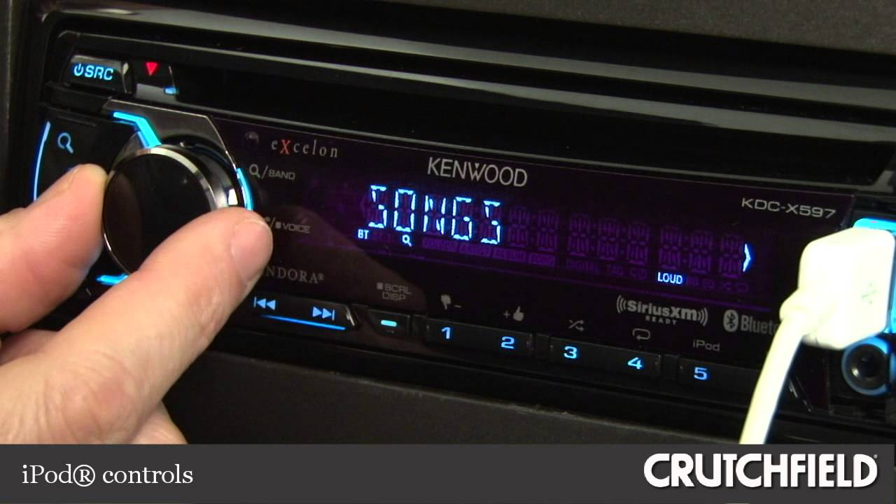 maxresdefault kenwood excelon kdc x597 car cd receiver display and controls demo kenwood kdc x595 wiring diagram at suagrazia.org
