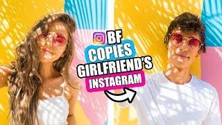 Boyfriend COPIED Girlfriends Instagram Photos For A Week CHALLENGE!!