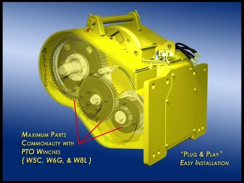 Hydraulic Winch Animation
