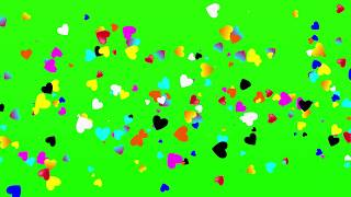 Top Heart On Love  Green Screen  Free Green template  Effects