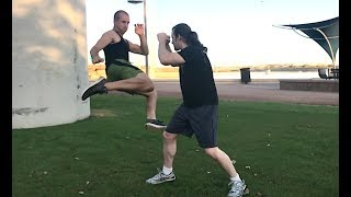 TORNADO KICK KNOCKOUT - How to Deliver a Tornado Kick in a Street Fight!