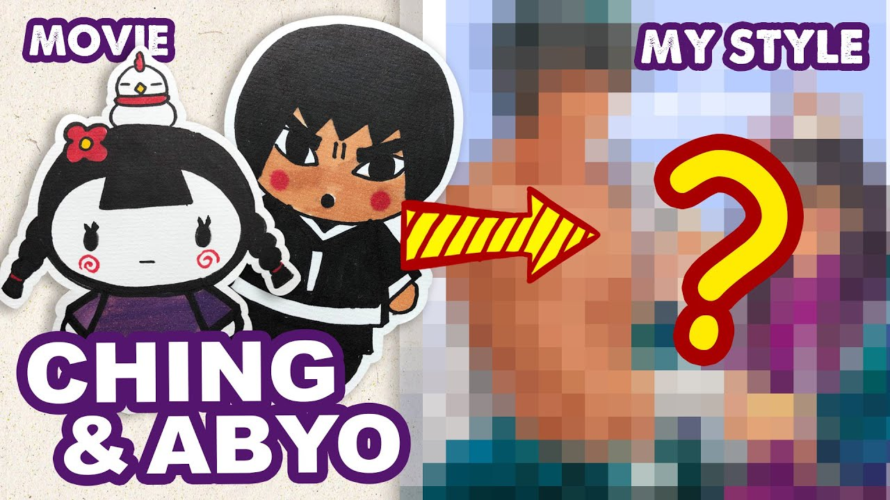 How to Draw Ching and Abyo from PUCCA |  Semi Realistic Style| Huta Chan