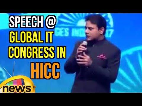 IT Minister KTR Superb Speech at Global IT Congress in HICC Hyderabad | Mango News