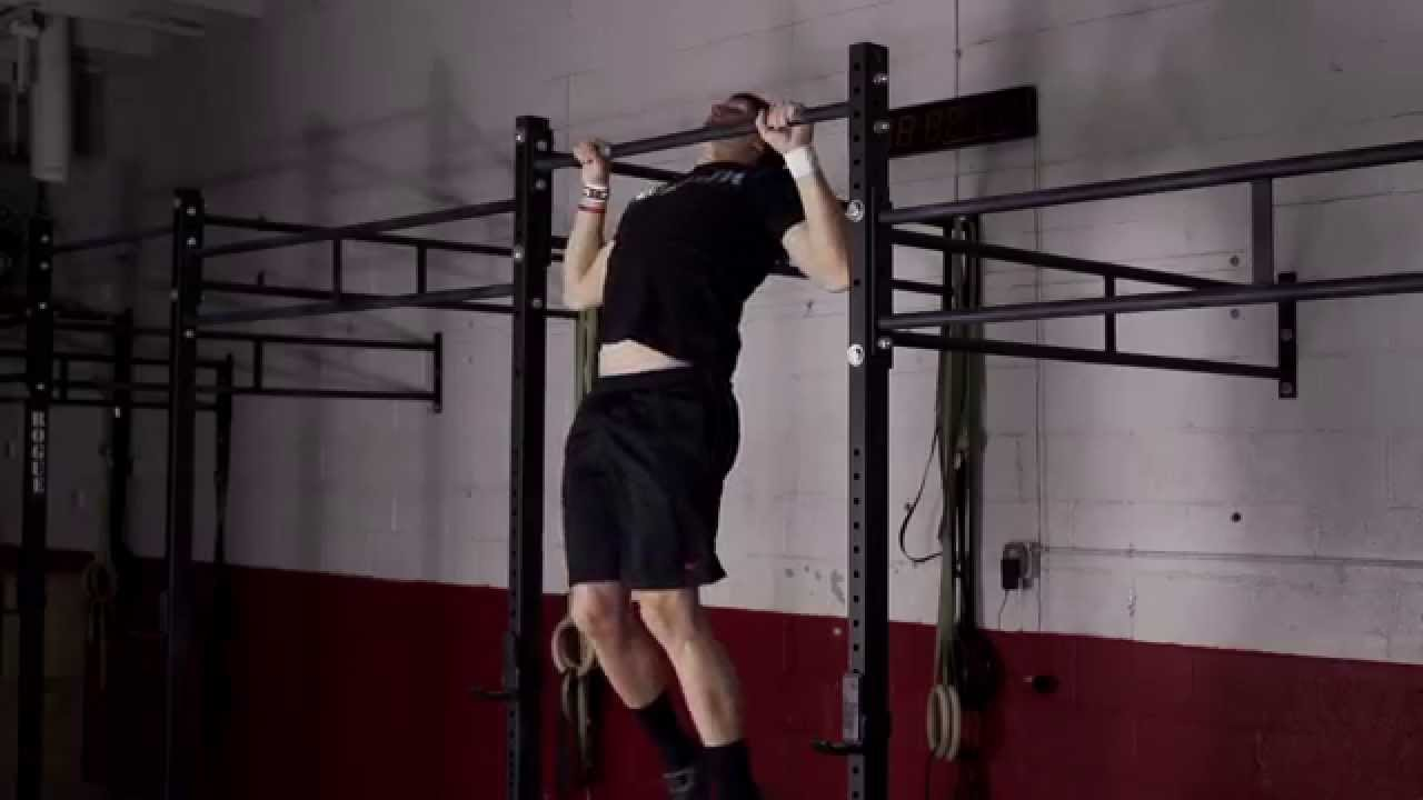 Butterfly Pullup In Super Slow Motion Crossfit Exercise
