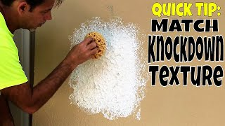 Easy way to Match Knockdown Texture-Diy Drywall Repair Tips and Tricks