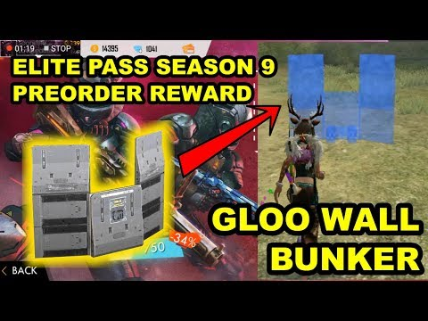 Free Fire New Elite Pass Preorder - Gloo Wall Bunker Review