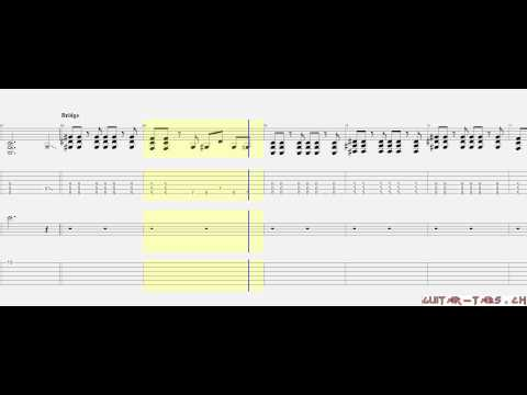 Three Days Grace Tabs - Animal I Have Become (BETTER QUALITY)